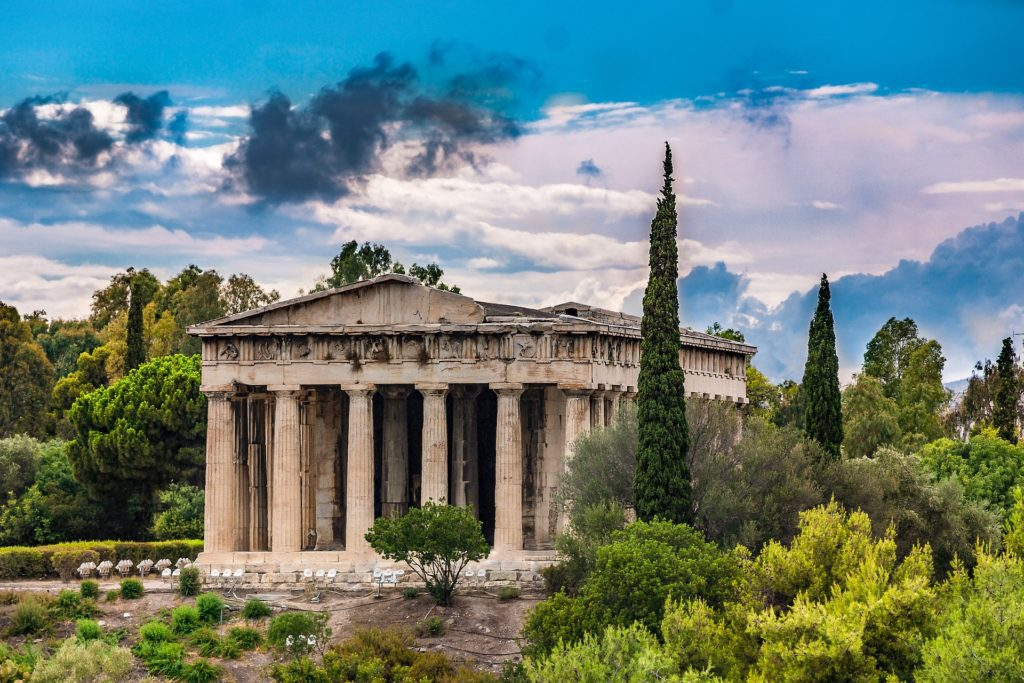 Héfaistův chrám neboli Héfaisteion je nejzachovalejším chrámem v Athénách.